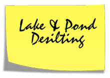 Pond and Lake Desilting Contractor
