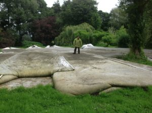 silt removal using silt bags