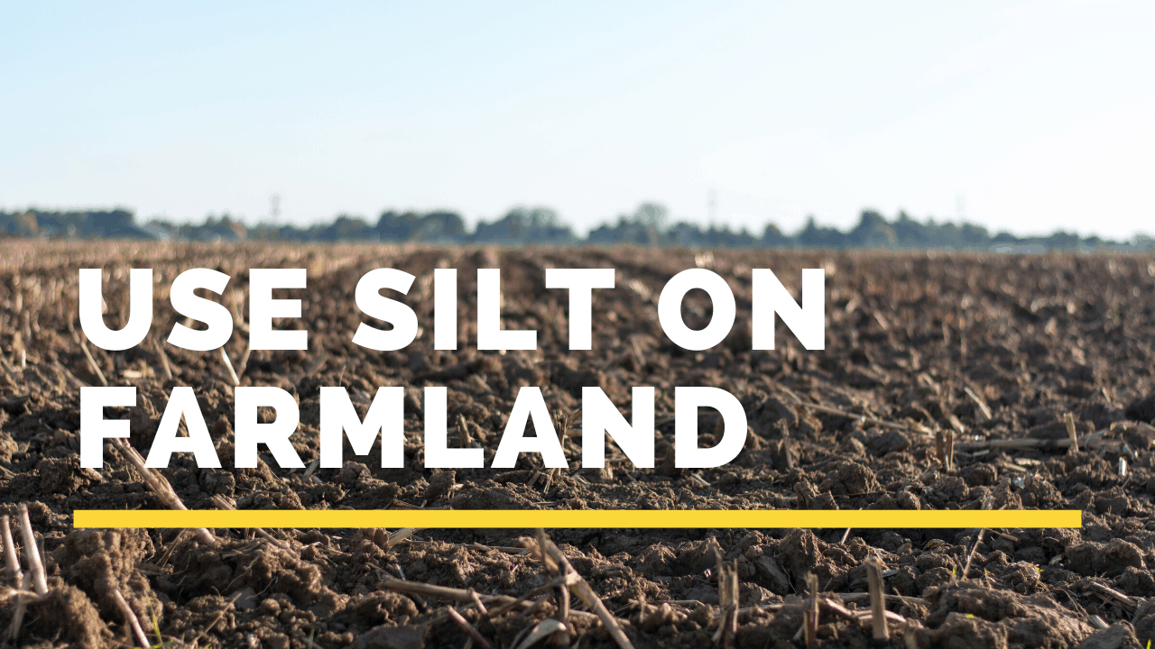 use silt on farmland